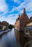 Canal street of old town, Bruges Stock Images