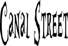 Canal Street sign Stock Image