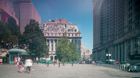 Canal street square 4k time lapse from new york city. Canal street square 4k time lapse from new york stock video