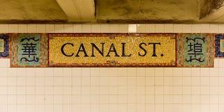 Canal Street Stacjonuje - Nowy Jork obraz royalty free