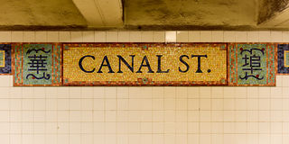 Canal Street Station - New York Royalty Free Stock Image