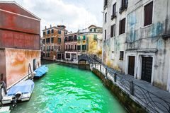 Canal is the street in Venice Royalty Free Stock Photography