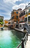 Canal is the street in Venice Stock Images