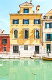 Canal is the street in Venice Royalty Free Stock Photos