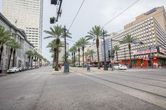 Canal Street Westbound, New Orleans Royalty Free Stock Images