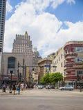 Canal Street y rascacielos de New Orleans Foto de archivo libre de regalías