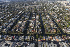 Canal Streets Aerial Venice California Stock Photography