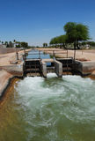 Canal System in Arizona Stock Image