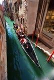 Canal típico em Veneza, Veneza, Vêneto, Itália Fotos de Stock Royalty Free