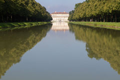"Canal to the ""Oberschleissheim"" palace, Munich Stock Photo"