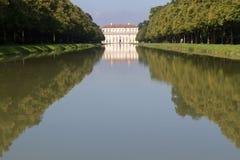"Canal to the ""Oberschleissheim"" palace, Munich Stock Photo"