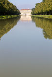 "Canal to the ""Oberschleissheim"" palace, Munich Stock Image"