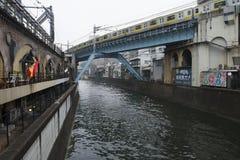 Canal Tokyo Images libres de droits