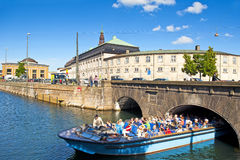 Canal tour. COPENHAGEN, DENMARK - JUNE 30: Canal tour on June 30, 2014 in Copenhagen Stock Images