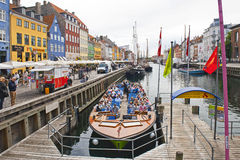 Canal Tours Copenhagen Royalty Free Stock Image