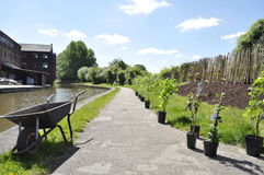 Canal tow path Royalty Free Stock Photos