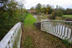 Canal Tow Path en otoño Imagenes de archivo