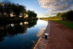 Canal and towpath Royalty Free Stock Image
