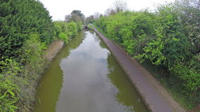 Canal and Towpath stock video footage
