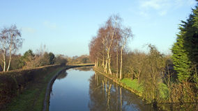 Canal. Trent and Mersey Canal in Cheshire UK Stock Image