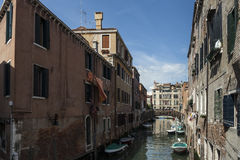 A Canal. From a Trip around Venice, Italy Royalty Free Stock Images