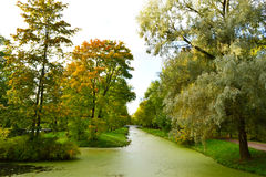 Canal in Tsarskoe Selo Stock Image