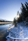 Canal from Two Jack Lake at Banff Royalty Free Stock Photography
