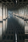 The canal under expressway Stock Photography