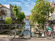 Canal in Utrecht, Holland Royalty Free Stock Image