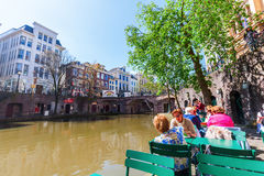 At a canal in Utrecht, Netherlands Royalty Free Stock Images