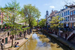 At a canal in Utrecht, Netherlands Stock Photo