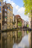 Canal of Utrecht Netherlands. Royalty Free Stock Photography