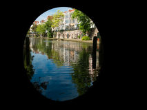 Canal in Utrecht, Netherlands Stock Photos