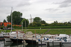 Canal in Veere Royalty Free Stock Photos