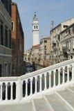 Canal veneciano de Venecia Italia de la arquitectura Imágenes de archivo libres de regalías