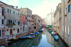 Canal Venetian Foto de Stock Royalty Free