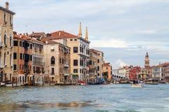 Canal Veneza grandioso Foto de Stock