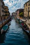 Canal, Veneza, Italia Foto de Stock Royalty Free