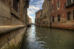 Canal in Venezia - ground view Stock Photography