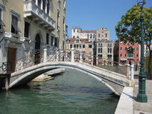 Canal in Venice. A bridge over a canal in Venice, Italy Royalty Free Stock Photos