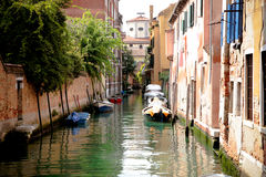 Canal in Venice. A quiet canal corner in Venice royalty free stock photos