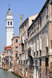 Canal in Venice. View of a canal, or street in Venice stock photos