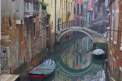 Canal in Venice. Venice - city of canals and it is one of them Stock Photos