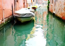 Canal in Venice. Canal-street with bouts in Venice Stock Photography
