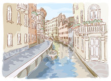 Canal in Venice. Stock Images
