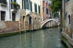 Canal in Venice. In Venice, Italy Stock Images