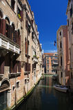 Canal of Venice. Small canal of Venice, Italy Royalty Free Stock Image