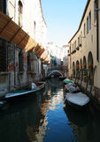 Canal, Venice. View of one of the many canal's of Venice Royalty Free Stock Photography