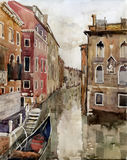 Canal in Venice vector illustration