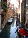 Canal in Venice. Romantic view on canal in Venice Stock Photos